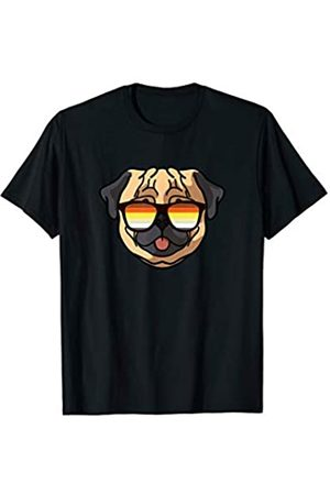 Paw Lovers by Mezziteez Gay Pug with Sunglasses - Cute Gay Pride Dog T-Shirt