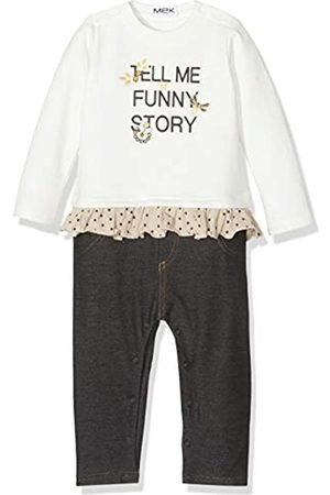 MEK Baby Girls Tutina Senza Piede Felpina Grzata E Jeggings Playsuit