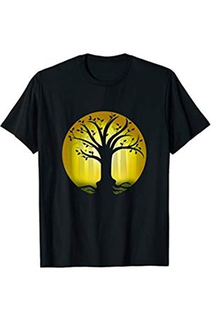 My Shirt Hub Good Luck Karma Gift | Forest with Blossom Tree Of Life T-Shirt