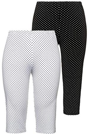 Ulla Popken Women's Dopa Radler, Capri Tupfen Sports Shorts
