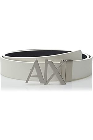 Armani Men's Skinny Leather Logo Belt, ( /Navy- /Navy 41910)