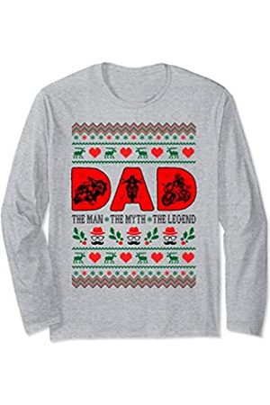 Rinabatu Designs Dad The Man The Myth The Legend Motorcycling Christmas Gift Long Sleeve T-Shirt