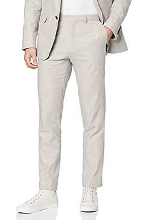 FIND Amazon Brand - Men's Linen Slim Suit Trousers, 36W / 31L