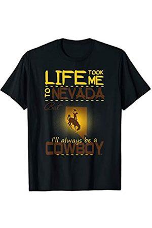 FanPrint Wyoming Cowboys Life Took Me To T-Shirt - Apparel