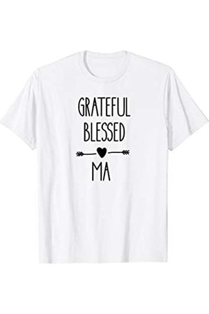 Blessed Shirts BB Blessed Grateful Ma T-Shirt Gift Tee Arrow Heart For Women