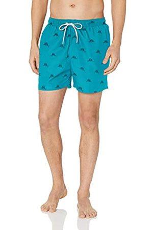 "28 Palms 4.5"" Inseam Tropical Hawaiian Print Swim Trunk /Navy Sailfish"