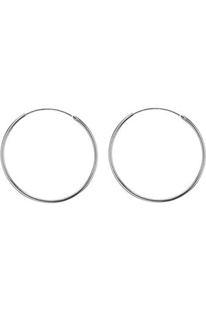 Tuscany Silver Women's Sterling Endless 40 mm Hoop Earrings