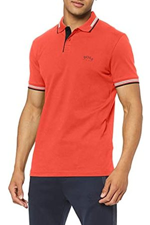 HUGO BOSS Men's Paul Curved Plain Slim Fit Short Sleeve Polo Shirt