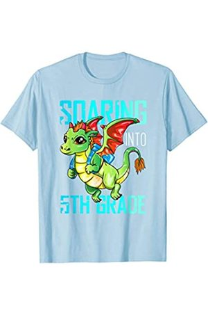 BUBL TEES Soaring Into 5th Grade Dragon Back To School T-Shirt