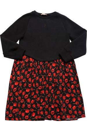 Nº21 Girls Printed Dresses - Cherry Print Cotton & Viscose Dress