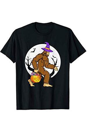 BUBL TEES Bigfoot Witch Hat Pumpkin Pail Halloween Costume Sasquatch T-Shirt