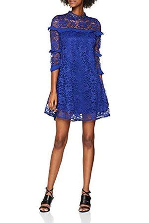 Little Mistress Women's Lace Shift Dress, (Cobalt)