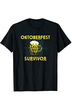 BUBL TEES Funny Oktoberfest Survivor Beer Drinker T-Shirt