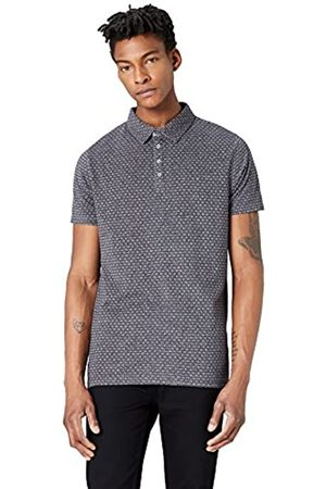 FIND Amazon Brand - Men's Graphic Print Polo Shirt, S