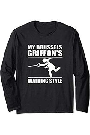 ToonTyphoon Humorous Brussels Griffon ( Women ) Walking Style Long Sleeve T-Shirt