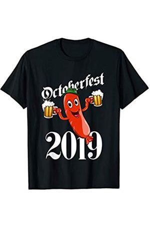 BUBL TEES Drunk Sausage Wurst Brats Oktoberfest 2019 Party Prost Beer T-Shirt
