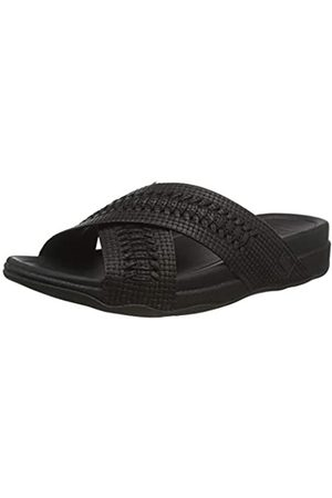 FitFlop Men's Surfer Embossed Slides Flip Flops, (All 090)