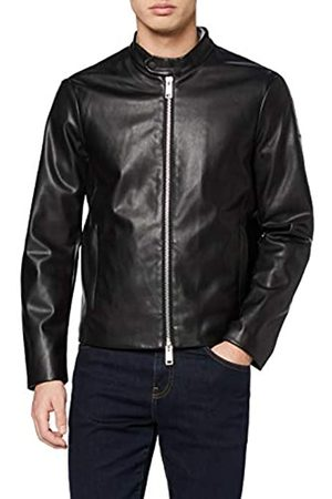Armani Men's Eco-Leather Blouson Bomber Jacket