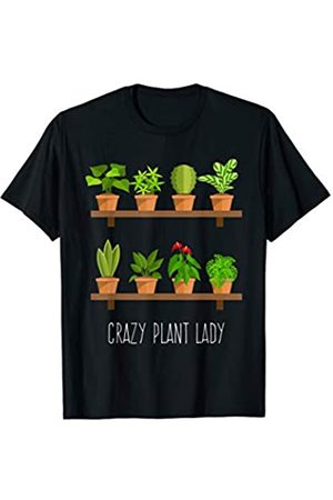 BUBL TEES Crazy Plant Lady Plant Lover Gardening T Shirt Gardener T-Shirt