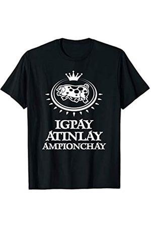 NoiseBotLLC Pig Latin Champion T-Shirt funny saying sarcastic novelty