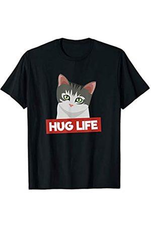 My Shirt Hub Funny Cute Little Cat Hug Life T-Shirt