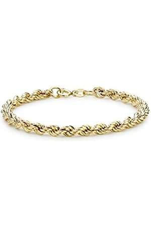 Carissima Gold Women's 9 ct Yellow Gold Hollow 5 mm 90 PG Rope Chain Bracelet of Length 19 cm/7.5 Inch