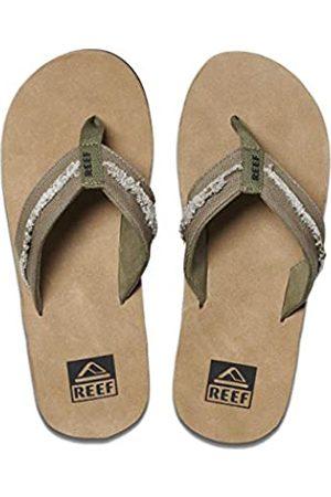 Reef Men's Marbea Fray Flip Flops, (Olive/Tan OTA)