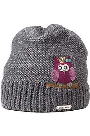 Giesswein Beanie Vogelsang ONE - Woolen hat with Merino Wool for Children, Warm Fleece Lining, Sweet Beanies for Girls, Glittering Sequin Yarn