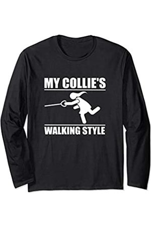 ToonTyphoon Humorous Collie ( Women ) Walking Style Long Sleeve T-Shirt