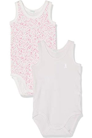 Benetton Baby Girls' 2 Bodysuit, (Lilla + Fiore Allover 62w)