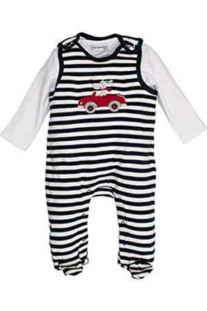 Salt & Pepper Salt and Pepper Baby Boys' NB Playsuit Bear Stripe Footies