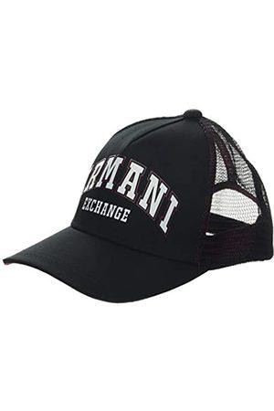 Armani Men's Logo Patch Trkr-mesh Baseball Cap, (Nero- 00020)