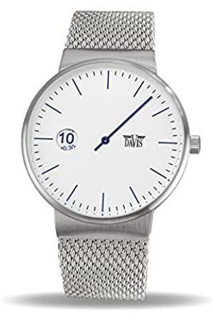 Davis 2101 - Men's Single Hand Watch Design Regulator Dial Mesh Strap