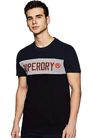 Superdry Men's Applique Colour Block S/s Tee Kniited Tank Top