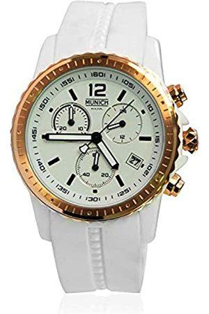Munich Unisex Adult Analogue Quartz Watch with Silicone Strap MU+101.7B