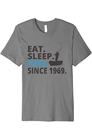 Eat Sleep Fish Fishing Birthday Shirts Eat Sleep Fish Since 1969 | 50th Birthday Shirt Fishing Gift