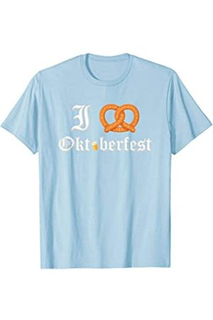 BUBL TEES I Love Oktoberfest Pretzel Heart Beer Festival Party T-Shirt