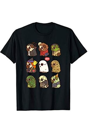Dog Lover Pug Halloween Costume Pug Halloween Costume Zombie Ghost Vampire Mummy Witch T-Shirt