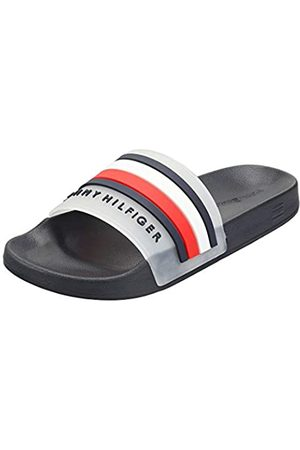 Tommy Hilfiger Men's Poolslide Open Toe Sandals, (Desert Sky Dw5)