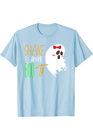 BUBL TEES Shake your Boo-ty Funny Halloween Ghost T-Shirt