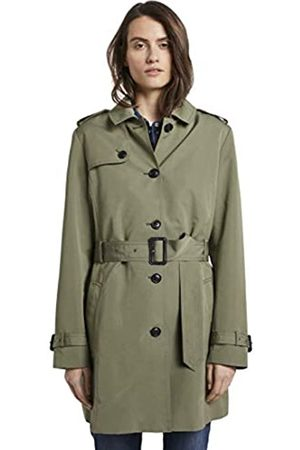 TOM TAILOR Women's Trenchcoat, 10905-Tree Moss