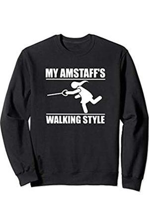 ToonTyphoon Humorous Amstaff ( Women ) Walking Style Sweatshirt