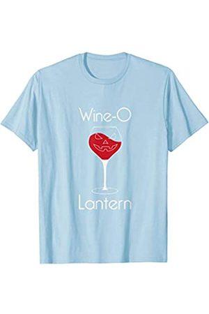 BUBL TEES Wine O Lantern Not Jack O Lantern Pumpkin Halloween T-Shirt