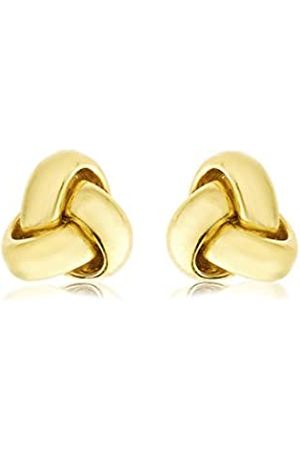 Carissima Gold Women's 9 ct 9 mm Triple Knot Stud Earrings