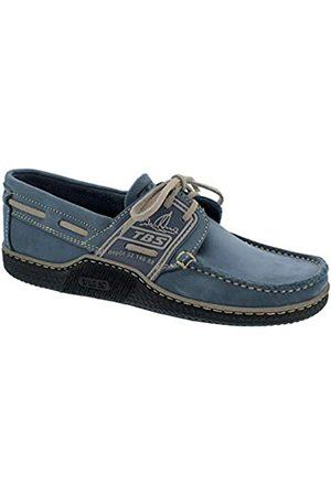 TBS Men's Globek Boat Shoes, (Marine + Loutre E8D22)