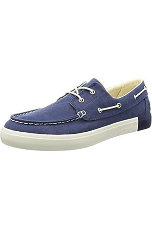 Timberland Men's Newport Bay 2 Eye Boat OxBlue Iris Canvas Shoes