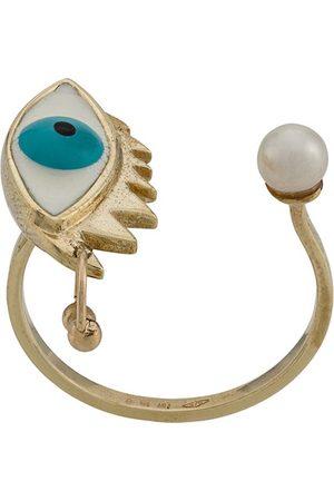 DELFINA DELETTREZ Women Rings - 9kt yellow Eye Piercing ring