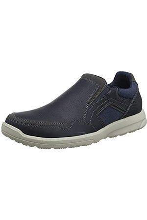 Rockport Men's Welker Casual Slip-On Loafers, (Navy Canvas 001)