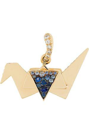 Aurélie Bidermann Origami sapphire and diamond pendant - Metallic
