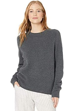 Daily Ritual Cozy Boucle Crewneck Pullover Sweater Charcoal Heather